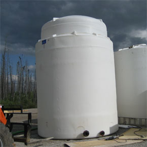 Double walled storage tank with flanges